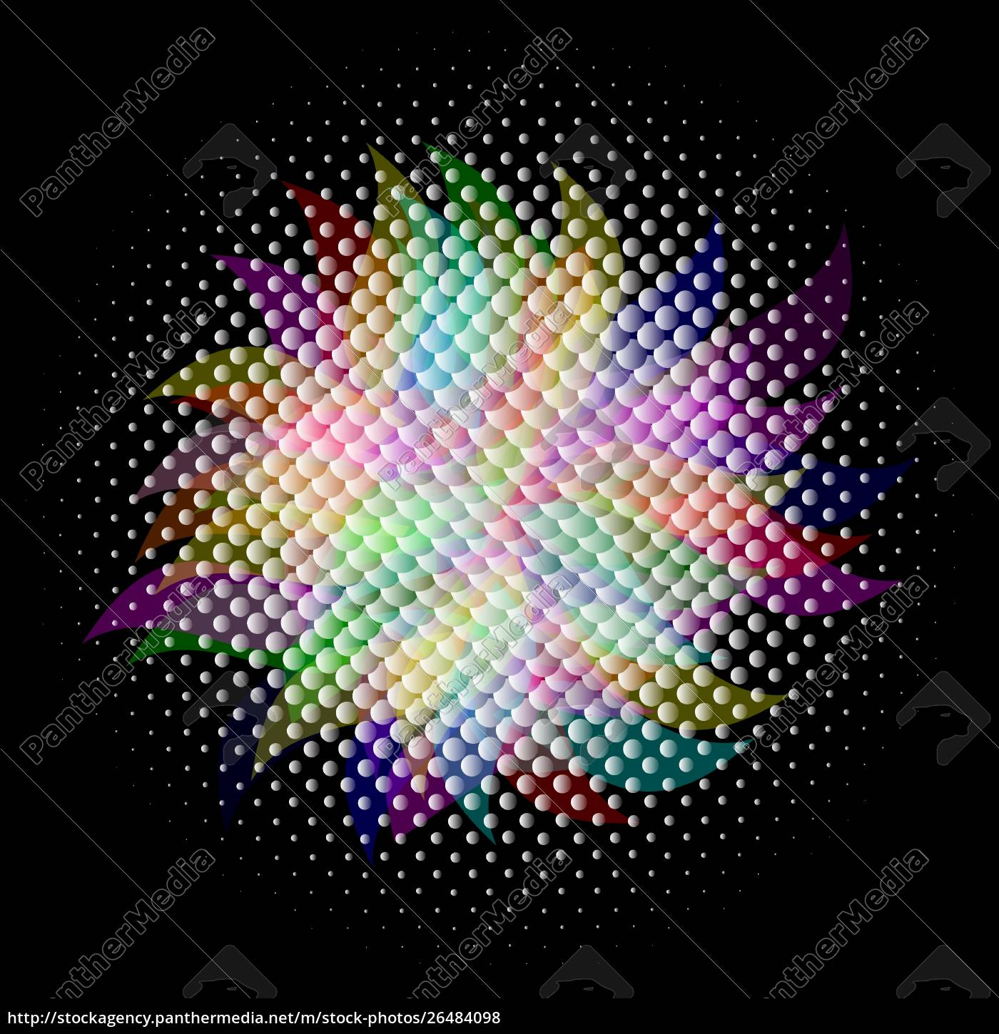 colorful, halftone, , vector, , eps, 10, with - 26484098