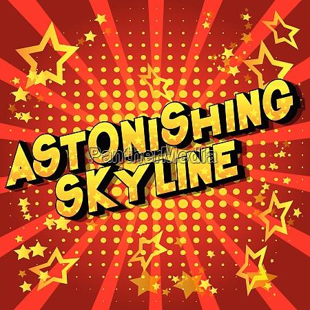 astonishing skyline comic book style