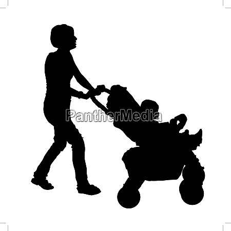 silhouette of a mother with a