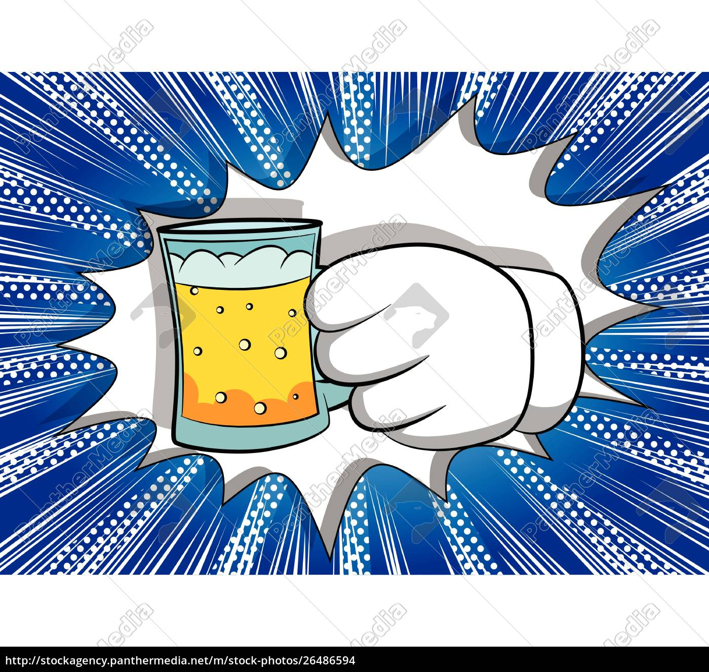 cartoon, hands, holding, a, beer. - 26486594