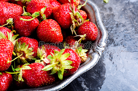 fresh juicy strawberries