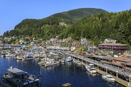small boats town and forest beautiful