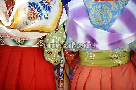 kudarao ladies colorful kimonos jidai festival