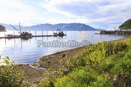 hoonah shoreline and dock tlingit community