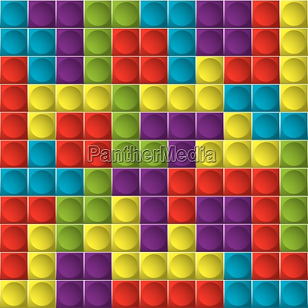 tetris colorful game board with shapes