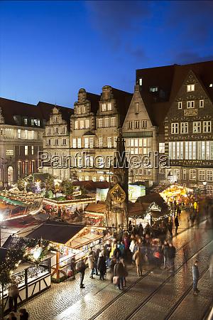 market square christmas markets bremen germany