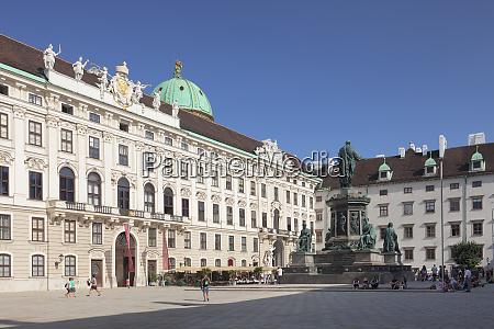 emperor francis monument hofburg palace unesco