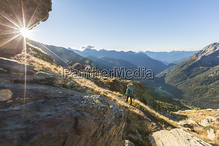 hiker, on, path, towards, rifugio, longoni, - 26490892