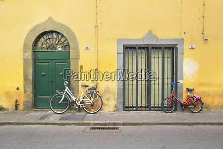 bicycles pisa tuscany italy europe