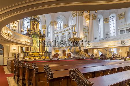 interior of st michaels church hamburg