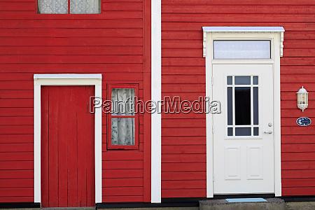 narrow red house hellesylt village more