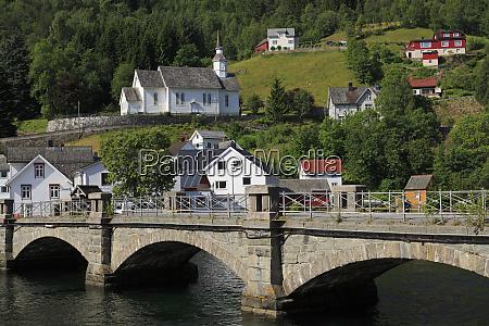 bridge hellesylt village more og romsdal