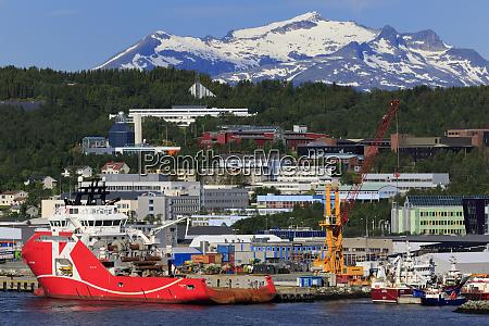 oil rig supply ship tromso city