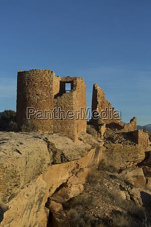 hovenweep castle in late afternoon ancestral