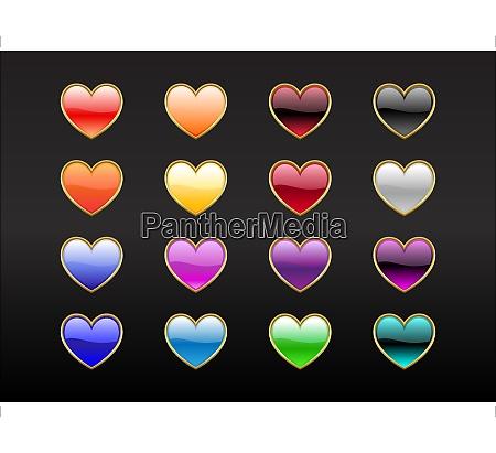 vector illustration of modern shiny heart