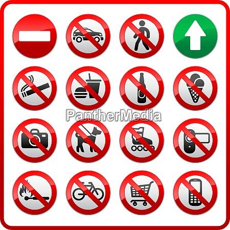 prohibited set symbols