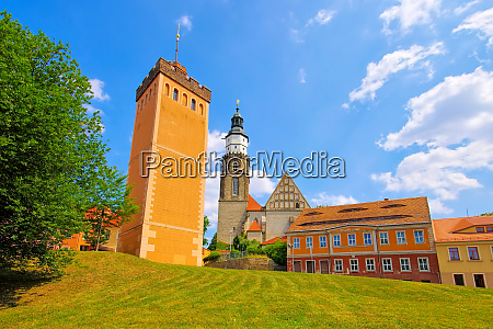 kamenz red tower and church saxony
