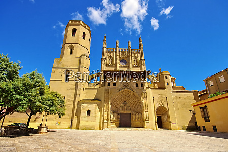 huesca cathedral aragon in spain