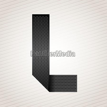 letter metal ribbon l