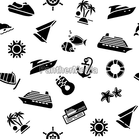 wrapping paper transport icons 10eps