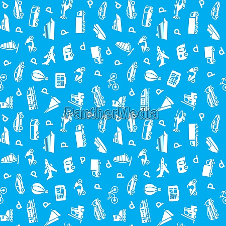 seamless transports icons pattern wallpaper