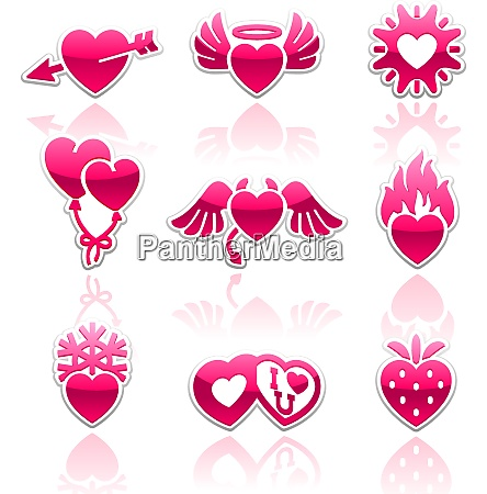 heart collection love icons