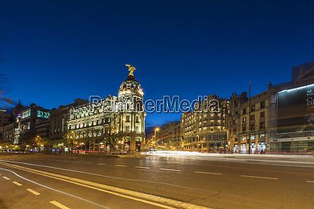 metropolis building on the corner of
