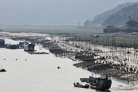 floating village with aquaculture to cultivate