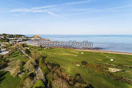 aerial view of royal jersey golf