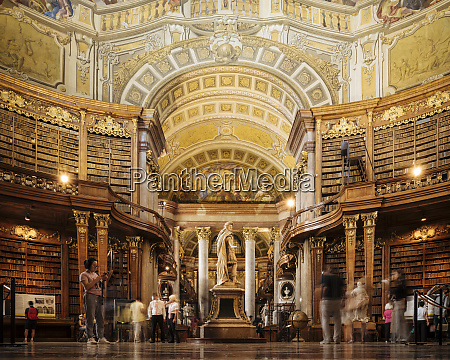 interior of the austrian national library