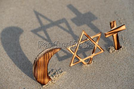 interreligious symbols of the three monotheistic