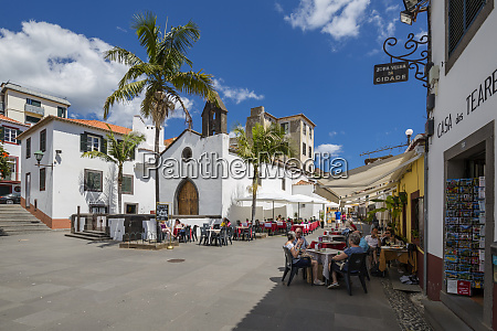view of old town restaurants on