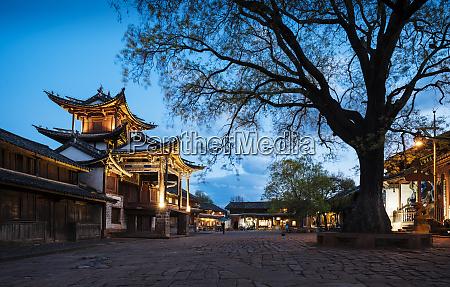 the three terraced pavilion shaxi yunnan