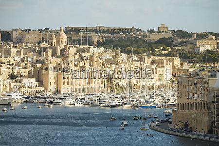 view over grand harbour valletta malta