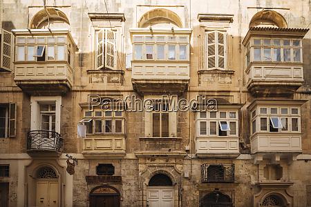 traditional maltese balconies valletta malta europe