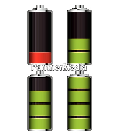 illustrated battery charge showing it fill
