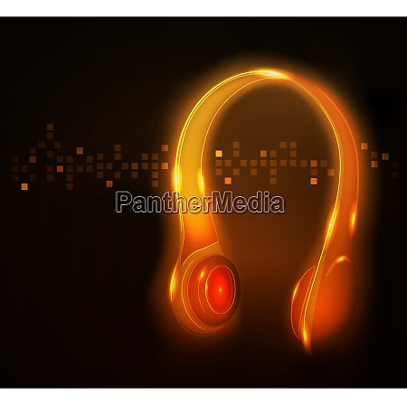glowing headphone