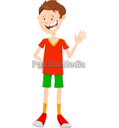 teen or kid boy cartoon character