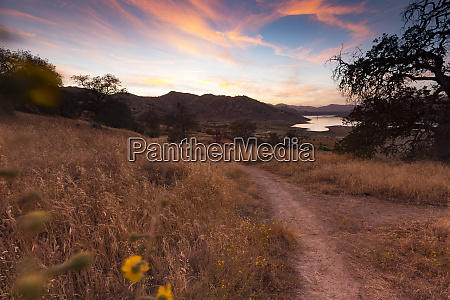 usa california lake kaweah in the