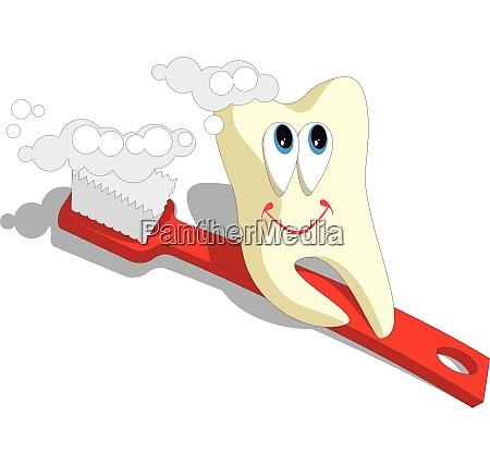 vector tooth cartoon set 003