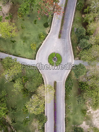 indonesia bali aerial view of road