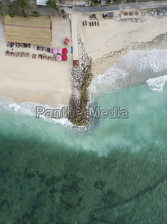 indonesia bali aerial view of pandawa