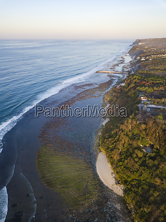 indonesia bali aerial view of green