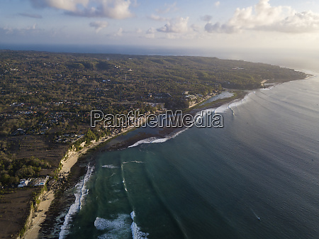 indonesia bali aerial view of bingin