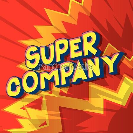 super company comic book style