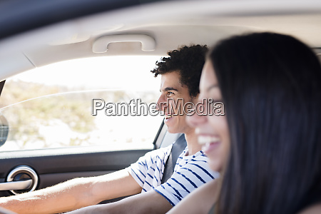 friends having fun on a road