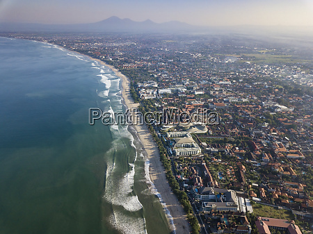 indonesia bali aerial view of kuta