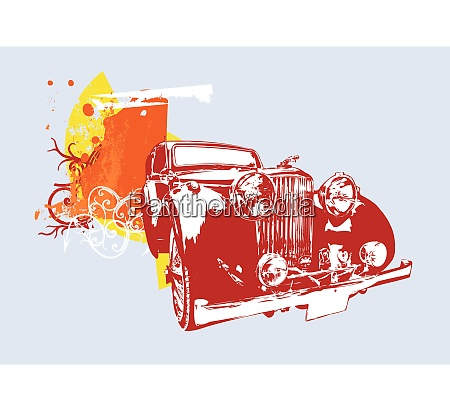 vector, illustration, of, old, vintage, custom - 26519448