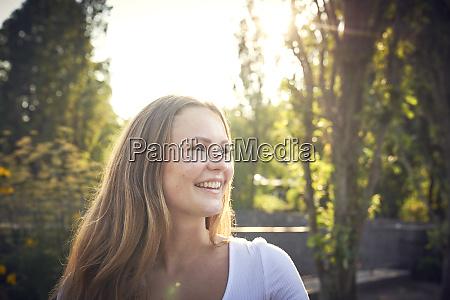 portrait of a smiling pretty woman
