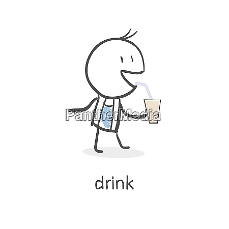 person drinks
